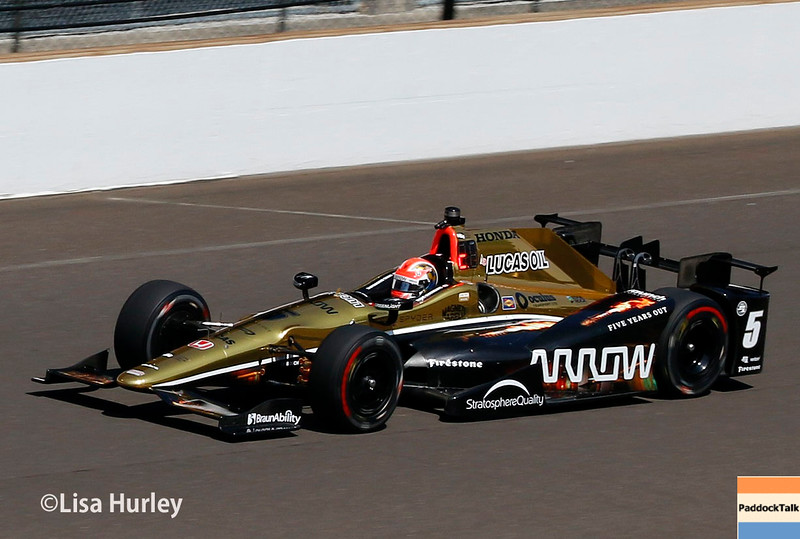 May 27: James Hinchcliffe during Carb Day for the 100th running of the Indianapolis 500.