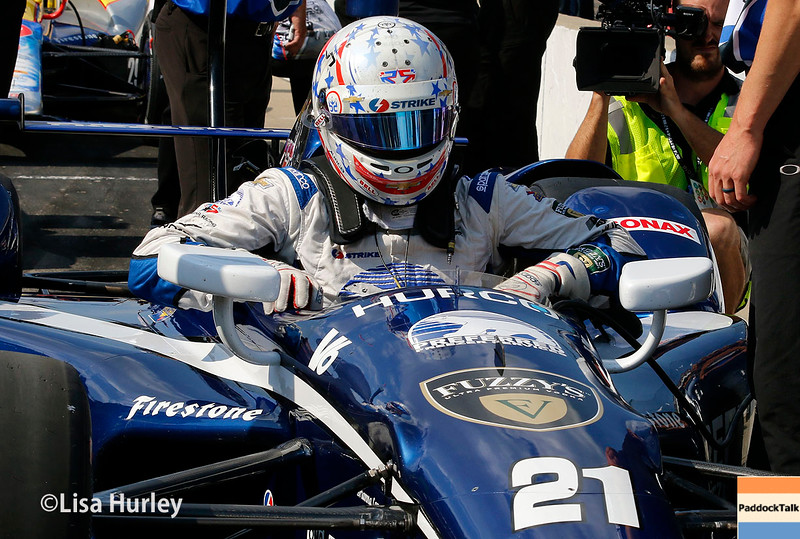 May 21-22: Josef Newgarden during qualifications for the 100th running of the Indianapolis 500.