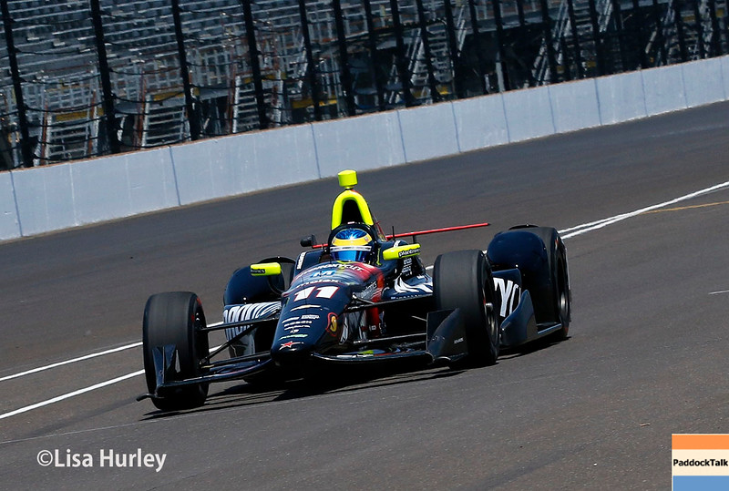May 21-22: Sebastien Bourdais during qualifications for the 100th running of the Indianapolis 500.