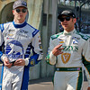 May 21-22: Josef Newgarden and Ed Carpenter during qualifications for the 100th running of the Indianapolis 500.