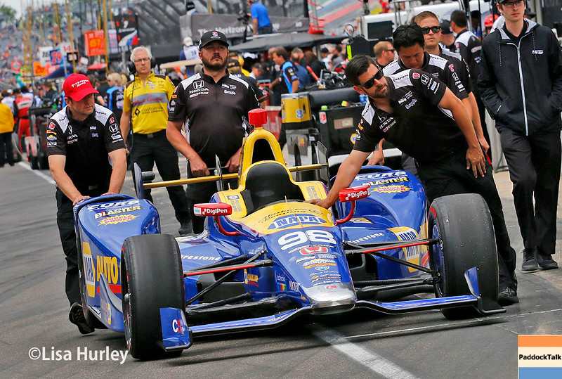 May 21-22: Alexander Rossi's car during qualifications for the 100th running of the Indianapolis 500.