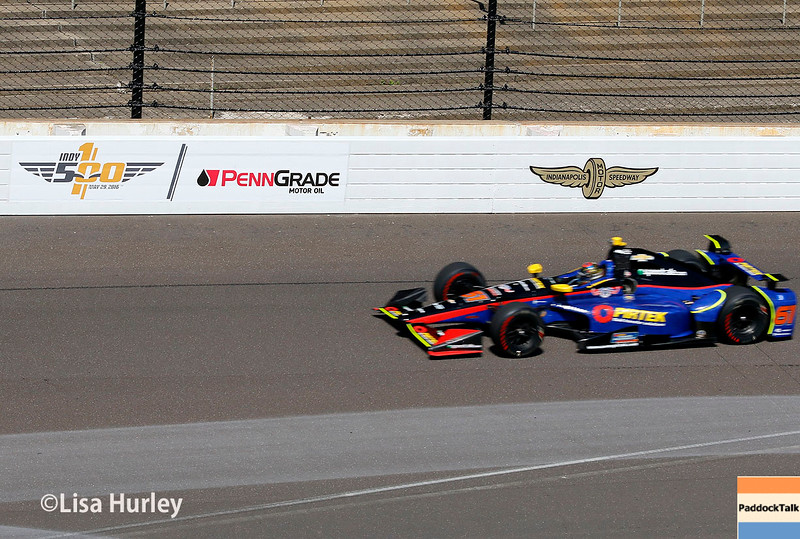 May 27: Matt Brabham during Carb Day for the 100th running of the Indianapolis 500.