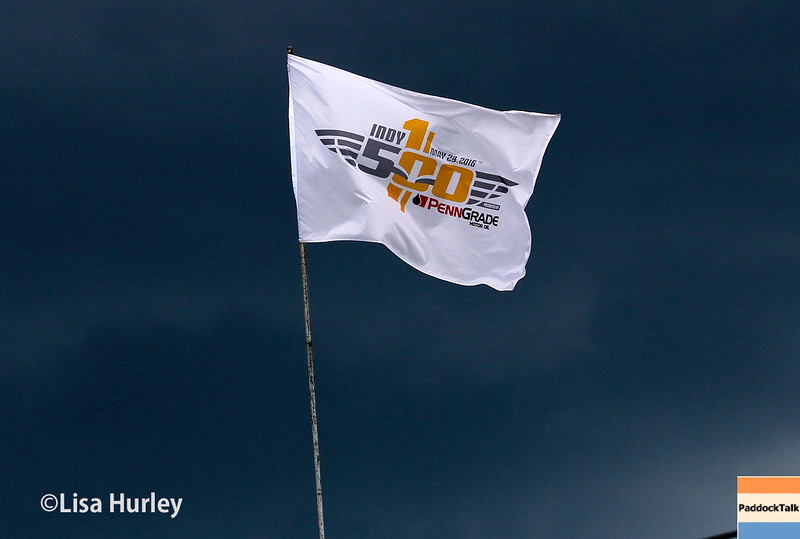 May 21-22: Event flag during qualifications for the 100th running of the Indianapolis 500.
