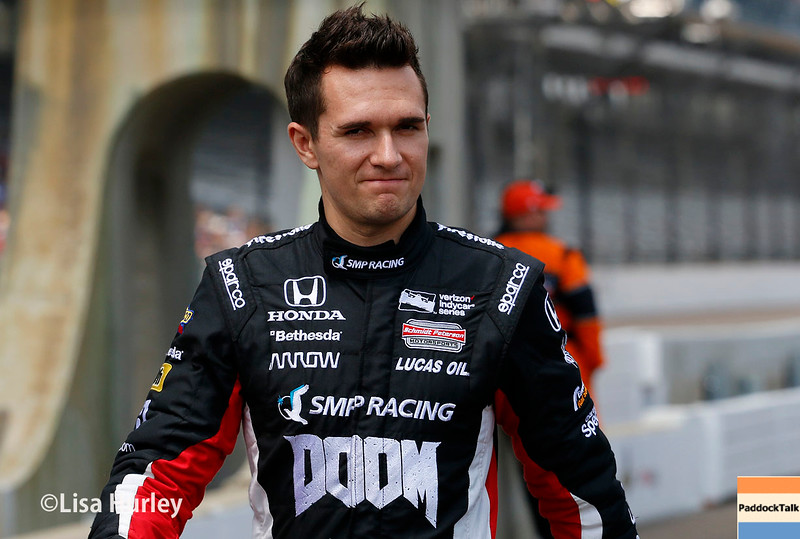 May 21-22: Mikhail Aleshin during qualifications for the 100th running of the Indianapolis 500.