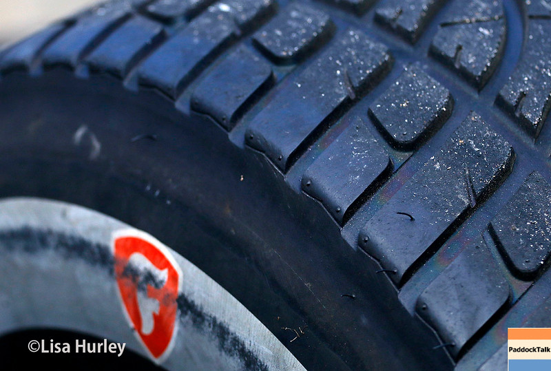 May 21-22: A Firestone road tire during qualifications for the 100th running of the Indianapolis 500.