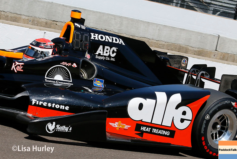 May 27: Alex Tagliani during Carb Day for the 100th running of the Indianapolis 500.