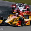 July 30-31: Ryan Hunter-Reay and Juan Pablo Montoya during The Honda Indy 200 at Mid-Ohio.