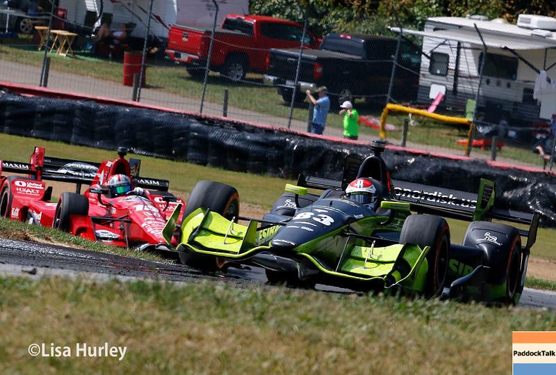 July 30-31: Graham Rahal and Charlie Kimball during The Honda Indy 200 at Mid-Ohio.