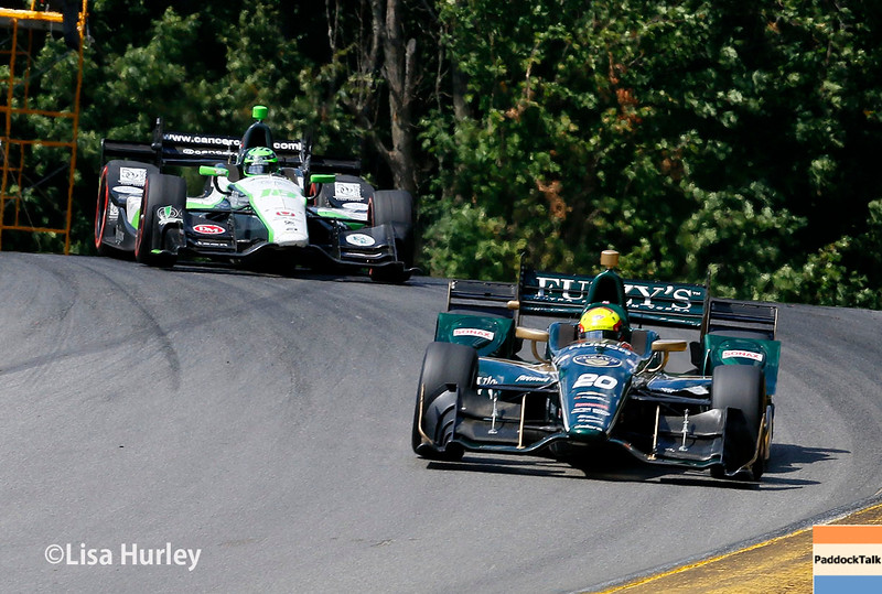 July 30-31:  Conor Daly and Spencer Pigot during The Honda Indy 200 at Mid-Ohio.