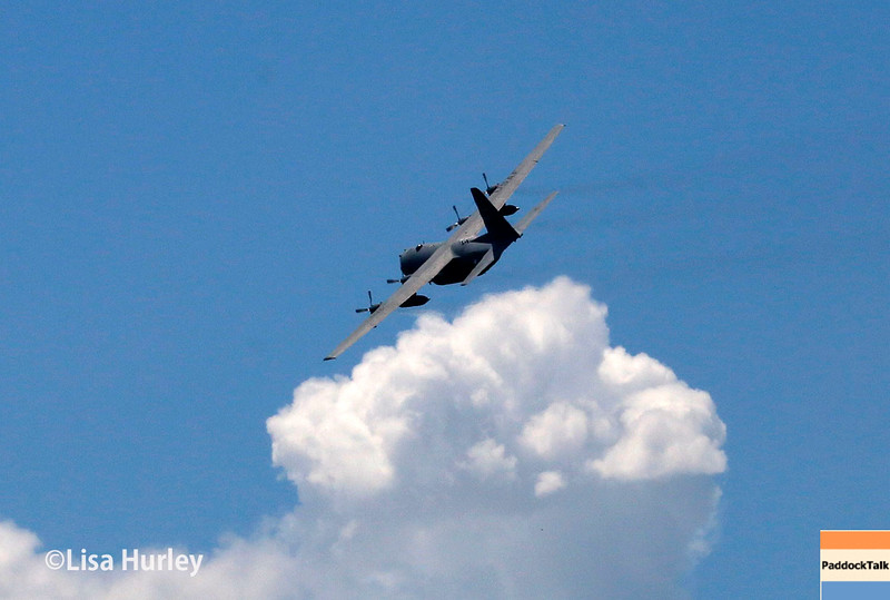 July 30-31: The flyover before The Honda Indy 200 at Mid-Ohio.