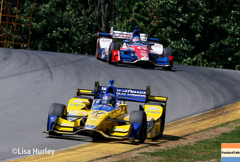 July 30-31: Takuma Sato and Marco Andretti during The Honda Indy 200 at Mid-Ohio.