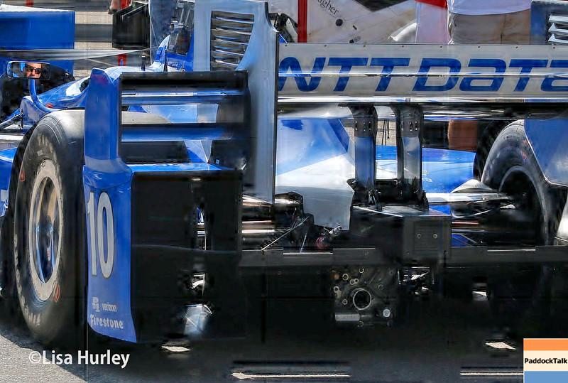 July 30-31: Tony Kanaan's car before The Honda Indy 200 at Mid-Ohio.