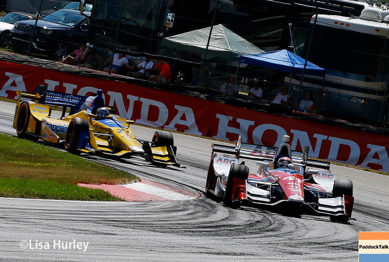 July 30-31: Marco Andretti and Jack Hawksworth during The Honda Indy 200 at Mid-Ohio.