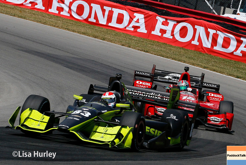 July 30-31: Charlie Kimball and Graham Rahal during The Honda Indy 200 at Mid-Ohio.