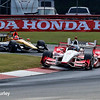 July 30-31: James Hinchcliffe and Juan Pablo Montoya during The Honda Indy 200 at Mid-Ohio.