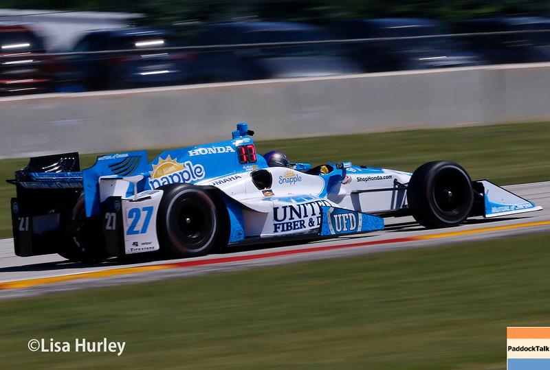 June 24-26: Marco Andretti during the Verizon IndyCar Series Kohler Grand Prix at Road America.