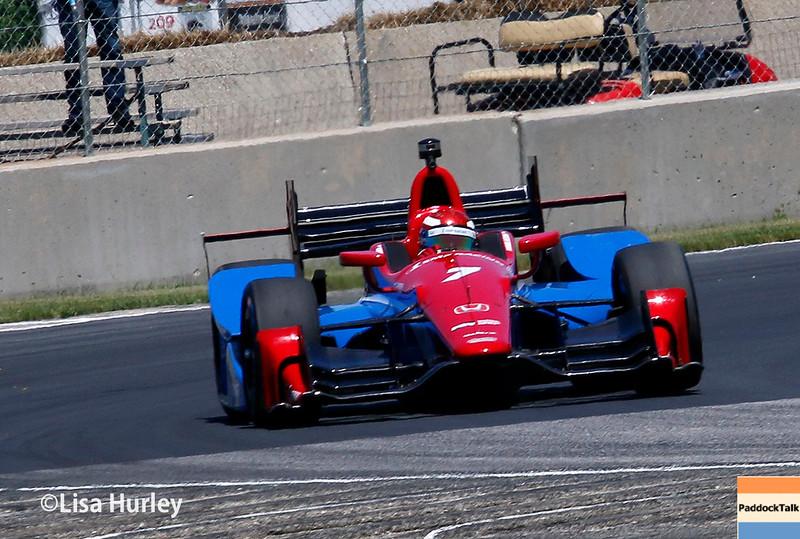 June 24-26: Mikhail Aleshin during the Verizon IndyCar Series Kohler Grand Prix at Road America.