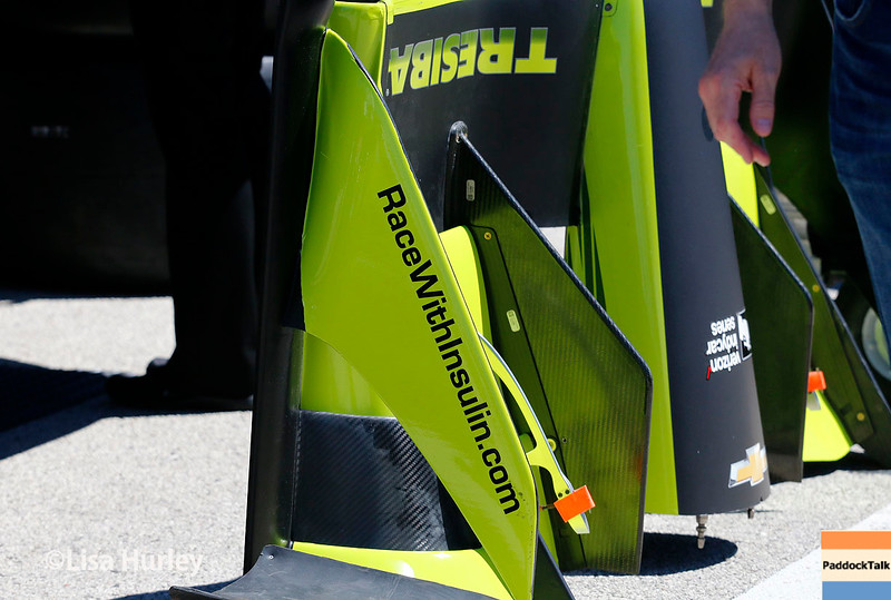 June 24-26: Charlie Kimball's car during the Verizon IndyCar Series Kohler Grand Prix at Road America.