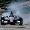 June 24-26: Will Power's victory burnout after winning the Verizon IndyCar Series Kohler Grand Prix at Road America.
