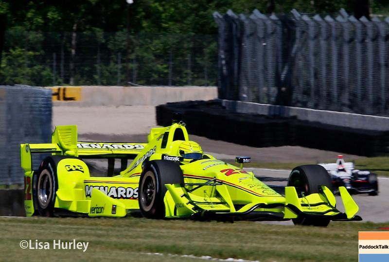 June 24-26: Simon Pagenaud during the Verizon IndyCar Series Kohler Grand Prix at Road America.
