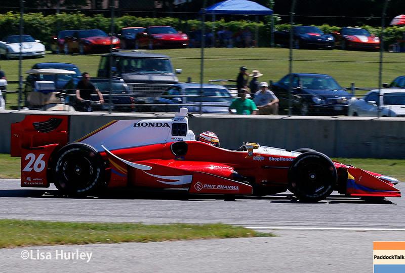 June 24-26: Carlos Munoz during the Verizon IndyCar Series Kohler Grand Prix at Road America.