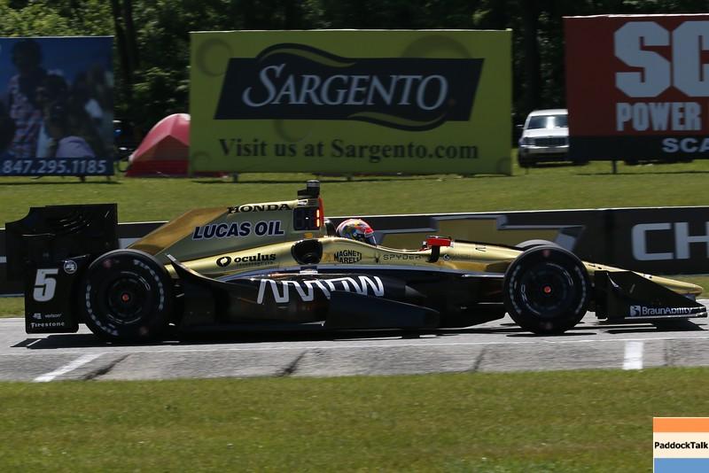 June 24-26: James Hinchcliffe during the Verizon IndyCar Series Kohler Grand Prix at Road America.