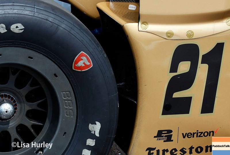 March 11-13: Josef Newgarden's car at the Firestone Grand Prix of St. Petersburg.