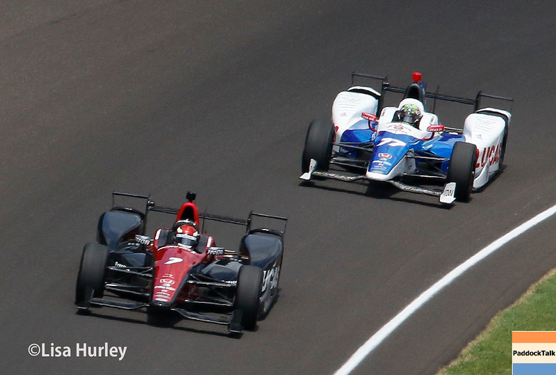May 28: Mikhail Aleshin and Jay Howard during the 101st Running of The Indianapolis 500.