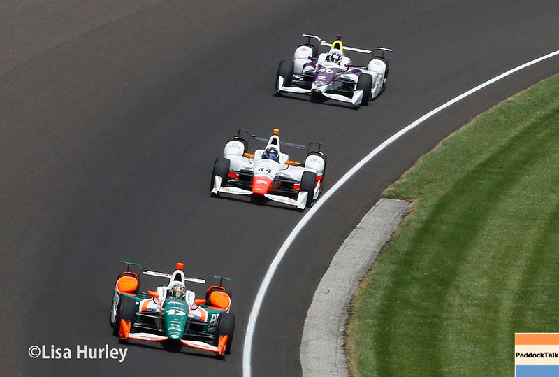 May 28: Track action during the 101st Running of The Indianapolis 500.