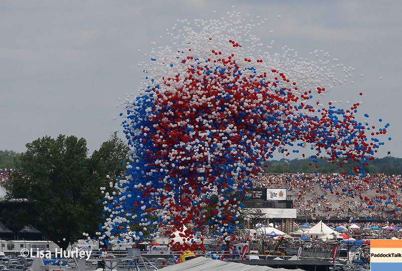 May 28: The festive balloon release to start the 101st Running of The Indianapolis 500.