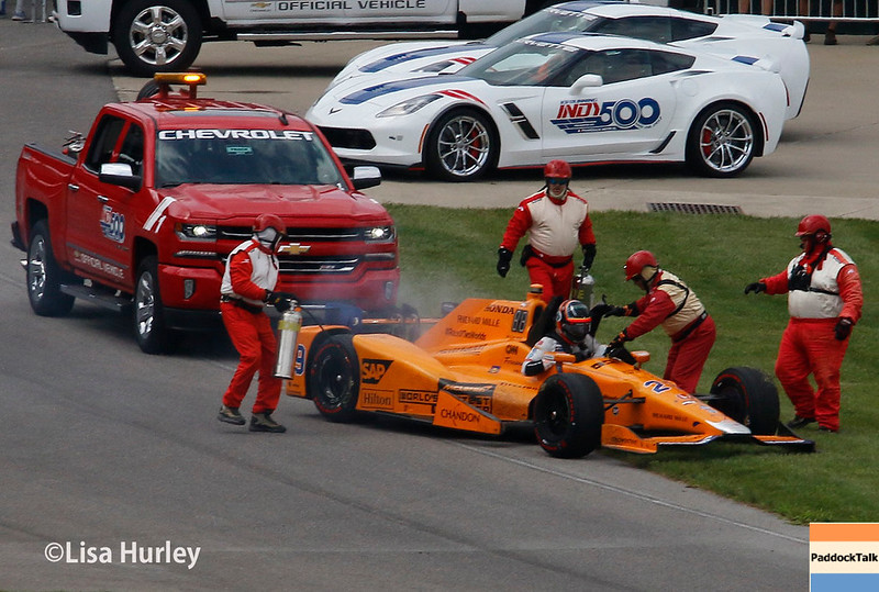 May 28: Fernando Alonso during the 101st Running of The Indianapolis 500.