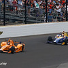 May 28: Fernando Alonso leads the 101st Running of The Indianapolis 500.