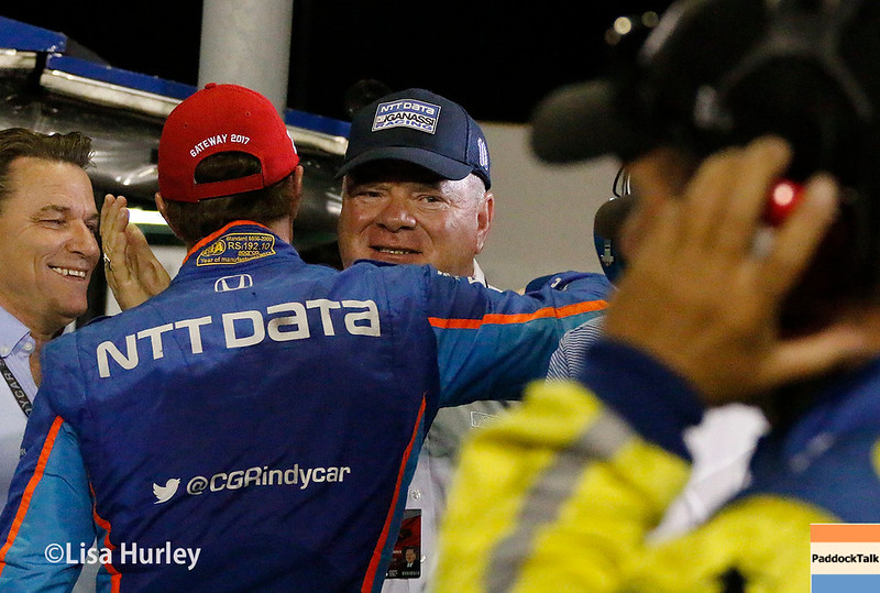 August 25-26:  Scott Dixxon and Chip Ganassi at the Bommarito Automotive Group 500 at Gateway Motorsports Park.