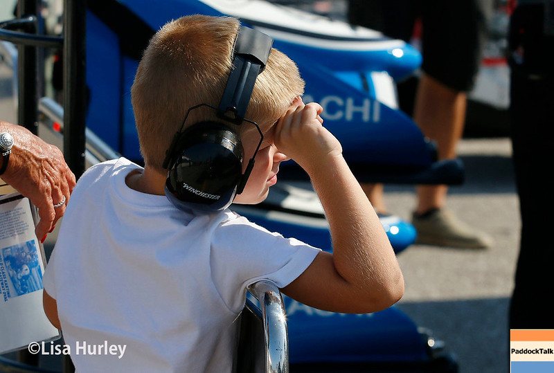August 25-26: Young fan at the Bommarito Automotive Group 500 at Gateway Motorsports Park.