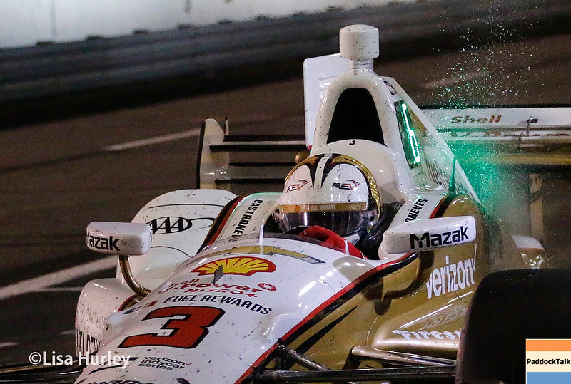 August 25-26: Helio Castroneves' pit stop during the Bommarito Automotive Group 500 at Gateway Motorsports Park.
