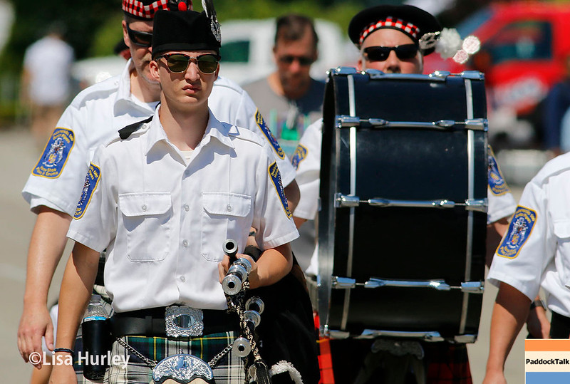 May 13: The Gordon Pipers at the Grand Prix of Indianapolis.