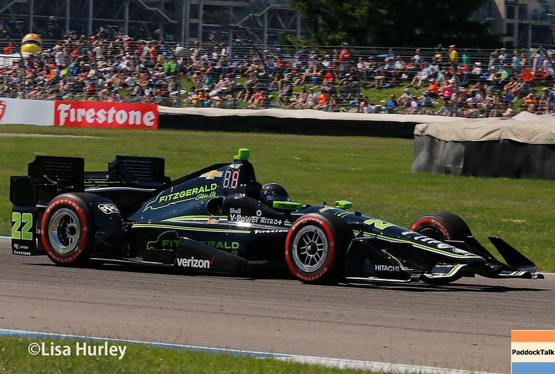 May 13: Juan Pablo Montoya at the Grand Prix of Indianapolis.