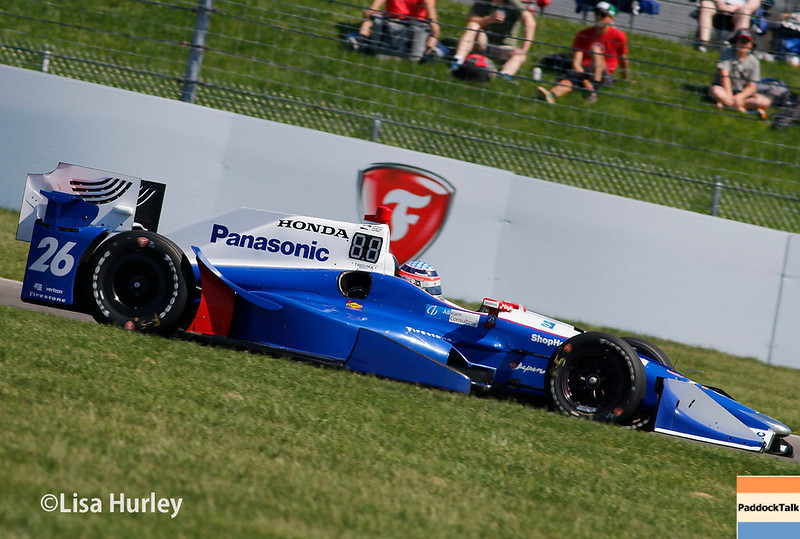 May 13: Takuma Sato at the Grand Prix of Indianapolis.
