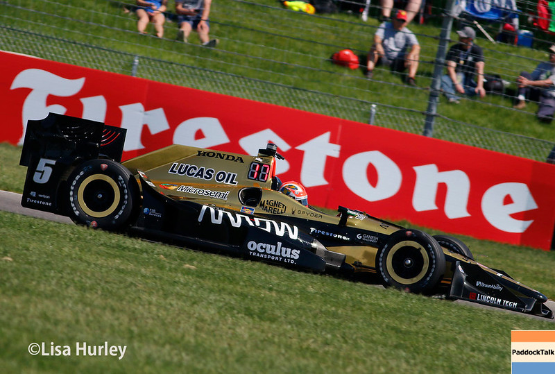 May 13: James Hinchcliffe at the Grand Prix of Indianapolis.