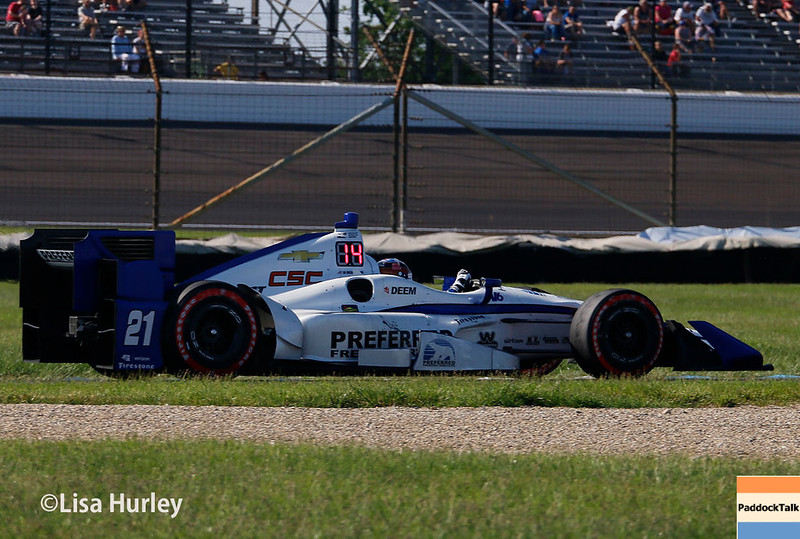 May 13: JR Hildebrand at the Grand Prix of Indianapolis.