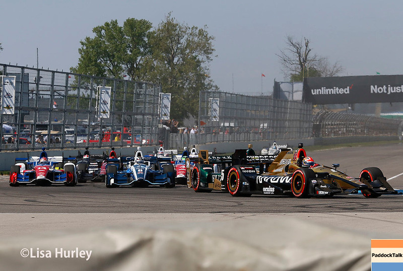 May 13: Track action at the Grand Prix of Indianapolis.