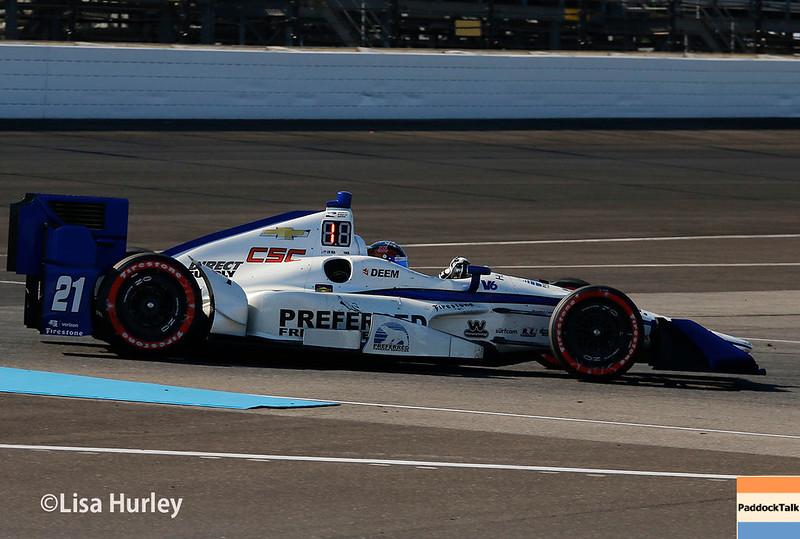 May 13: JR Hinchcliffe at the Grand Prix of Indianapolis.