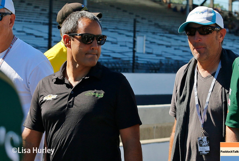 May 2017:  Juan Pablo Montoya during practice for the 101st Running of the Indianapolis 500.