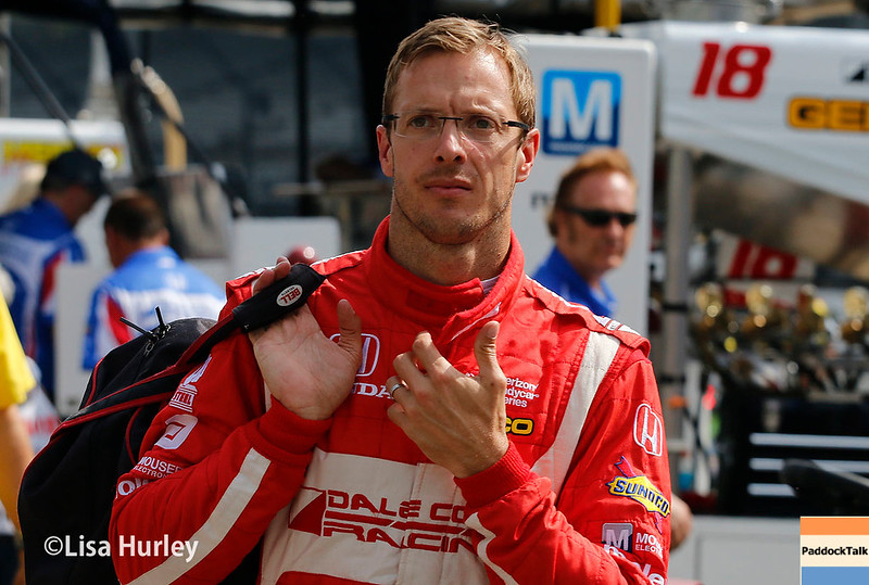 May 2017: Sebastien Bourdais during practice for the 101st Running of the Indianapolis 500.