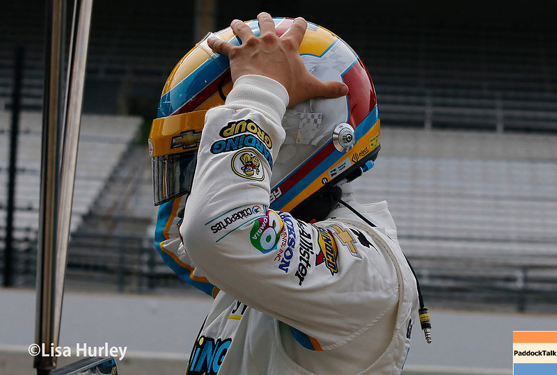 May 2017:  Gabby Chaves during practice for the 101st Running of the Indianapolis 500.