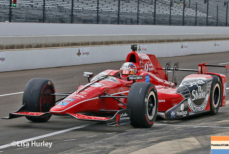 May 2017:  Graham Rahal during practice for the 101st Running of the Indianapolis 500.