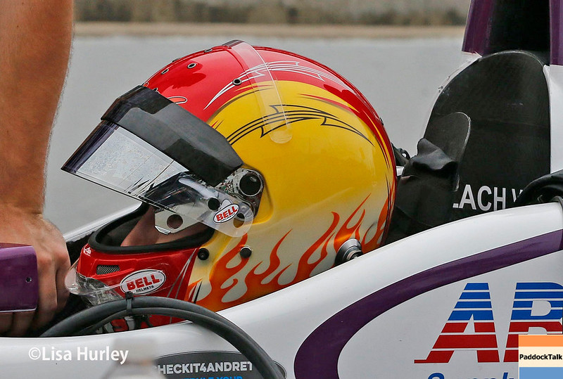 May 2017: Zach Veach during practice for the 101st Running of the Indianapolis 500.