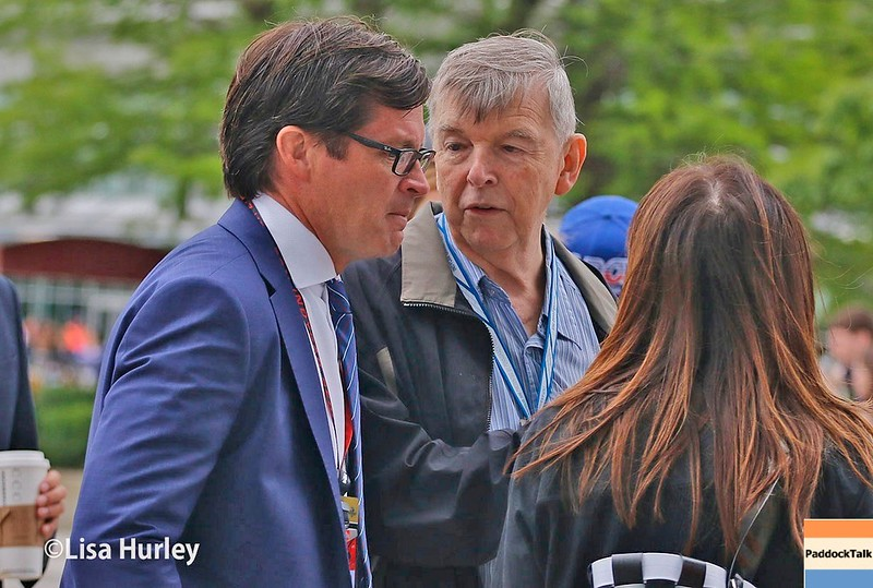 May 2017: Doug Boles and Donald Davidson during practice for the 101st Running of the Indianapolis 500.