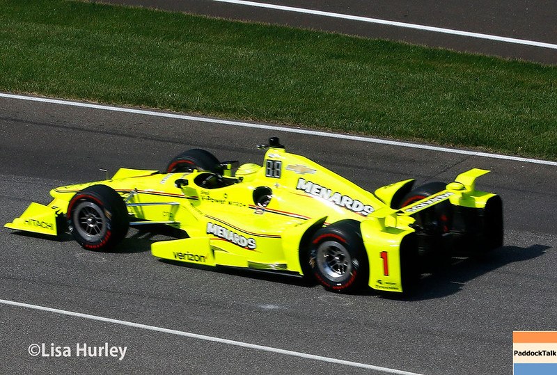 May 2017:  Simon Pagenaud during practice for the 101st Running of the Indianapolis 500.