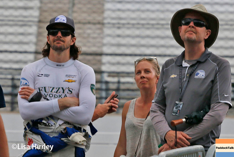 May 2017: JR Hildebrand during practice for the 101st Running of the Indianapolis 500.